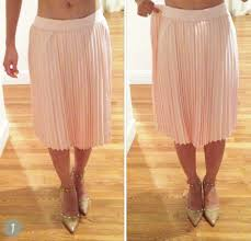diy alterations tutorial taking in an exposed elastic waist skirt