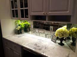 Kitchen Backsplash Paint by Small Kitchen Decoration Using Modern Mirrored Kitchen Cabinet