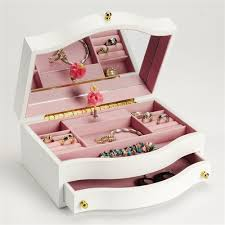 personalized ballerina jewelry box childrens musical jewelry with ballerina swan lake box