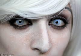 Halloween Costume Contact Lenses Novelty Contact Lenses Worn Halloween Blindness