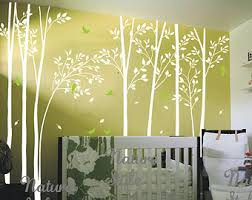 Tree Wall Decals For Living Room Living Room Decal Etsy