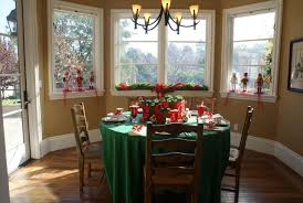 dining room charming christmas decoration ideas with red white