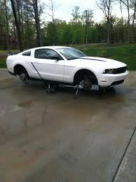 White Mustang With Black Wheels Plasti Dipped My Rims Got A Story For Ya Ford Mustang Forum