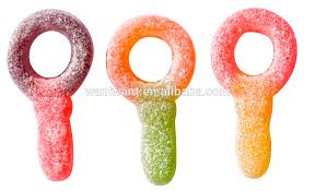 pacifier shaped candy key shaped pacifier shaped gummy fruity flavor sour gummy candy
