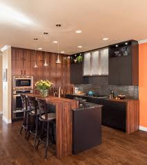 denver dark wood countertops kitchen contemporary with floor