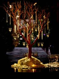 Wedding Tree Centerpieces Wedding Centerpieces White Trees With Candles The Wedding