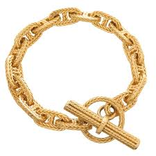 gold bracelet hermes images Hermes gold chaine d 39 ancre tresse toggle bracelet at 1stdibs jpeg