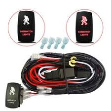 mictuning led light bar wiring harness laser on off rocker switch