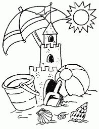 sand castle coloring page glum me