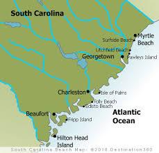 america map carolina map of south carolina beaches south carolina coast map