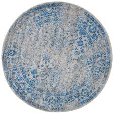 Teal And Gray Area Rug by Safavieh Retro Black Grey 8 Ft X 8 Ft Round Area Rug Ret2770