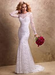 robe de mari e dentelle manche longue 2017 nouvelle arrivée robe de mariage musulman trompette robes de
