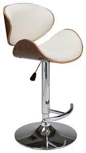 Ivory Bar Stools Pastel Jordana Hydraulic Lift Barstool Chrome U0026 Walnut Veneer