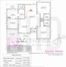 14 5 bedroom house elevation with floor plan kerala style double