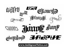ambigram words tattoos designs