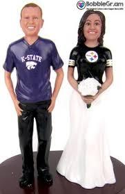 football wedding cake toppers custom football themed wedding cake topper football themed