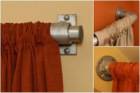 industrial pipe curtain rods simplified building