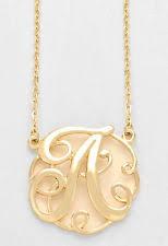 Monogram Initials Necklace Gold Monogram Necklace Ebay