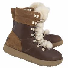 s ugg ankle boots with laces ugg australia s viki waterproof lace up ankle boot ebay