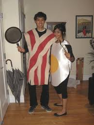Eggs Bacon Halloween Costume Paper Doll Romance Halloween Book Couples Costumes