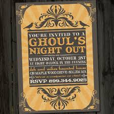 ghoul u0027s night out vintage retro halloween printable party