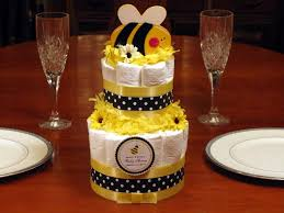 cute as can bee diaper cake centerpiece 2 tiers bumblebee baby