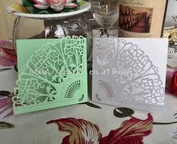 Cheap Wedding Programs Pink Wedding Cards Fan Shaped Invitation Cards Laser Cut