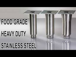 stainless steel table legs adjustable stainless steel furniture legs commercial use food grade youtube