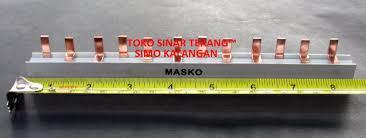 Sisir Mcb jual busbar sisir mcb 3p pas mcb bar type pin listrik 3 phase fase
