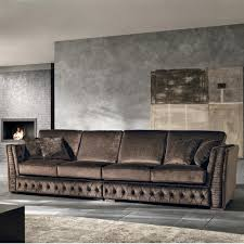 canape fabrique en canapé 4 places en tissu fait en italie de style baroque teseo