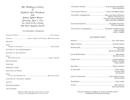 wedding program templates free wedding templates programs response cards and more
