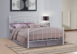 contemporary white metal bed frames is for illustration only