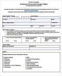 sample employment application forms employment application forms