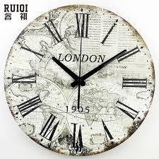 wall clock modern world map large decorative wall clock modern design fashion silent