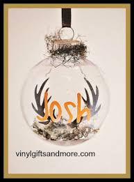 floating ornament antlers with name vinyl