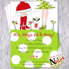 ladies christmas cocktail party invitation ladies holiday