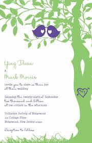 bird wedding invitations bird wedding invitations purple and green tree wedding