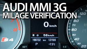 how to check correct milage in audi mmi 3g a1 a4 a5 a6 a7 a8 q3