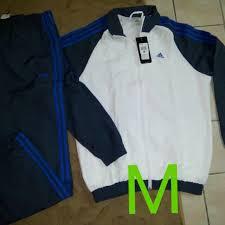 Baju Adidas Ori original adidas set baju dan seluar fesyen lelaki pakaian di carousell
