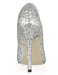 silver glitter sequin pointed toe dress pumps milanoo com