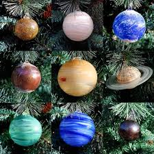 blown glass solar system tree ornament set ohgizmo