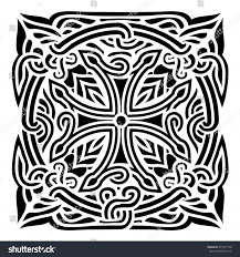 georgian ornament vector illustration abstract pattern stock