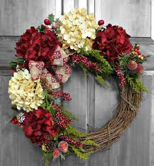 Front Door Decorations For Winter - holiday wreath christmas wreath hydrangea wreath christmas gift