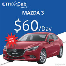 mazda products new mazda 3 sedan new rates ethozcab private hire car rental