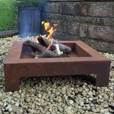 Square Firepit Square Brazier Large Rustic Pit Square Pit