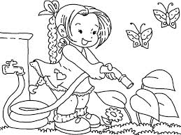 flower garden color pages tom coloring printable