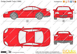 1995 dodge stealth the blueprints com vector drawing dodge stealth turbo