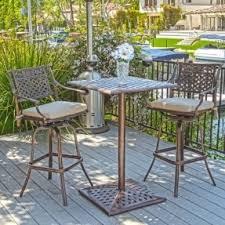 Bistro Patio Chairs Bar Set Outdoor Aluminum Patio Open Travel