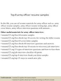 Resume Examples For Military Top8armyofficerresumesamples 150514092035 Lva1 App6891 Thumbnail 4 Jpg Cb U003d1431595283