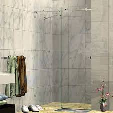 Sliding Shower Screen Doors 1000 1040 X 2000h Two Panel Wall To Wall Sliding Door Frameless